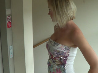 Amazing big tits blonde fucked like a..