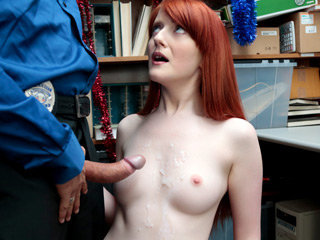 Cute shoplifter girl Krystal gets a..