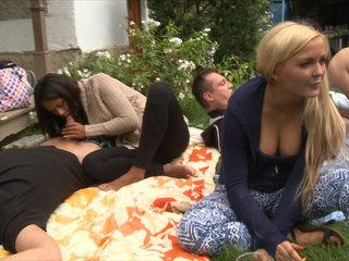 Outdoor SEX Orgy During the Garden Party