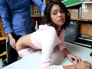 Shoplifter girl Kat gets punished by..
